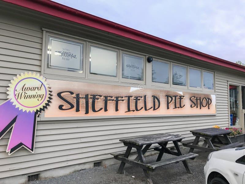 parkera bilen på Sheffield Pie Shop för bagerishopping i Canterbury Nya Zeeland royaltyfri bild