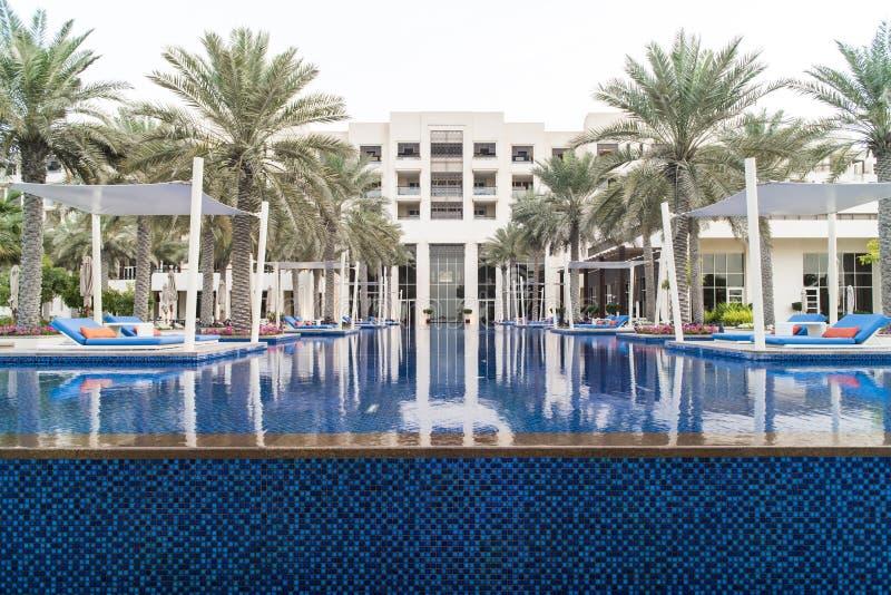 Parkera det Hyatt hotellet, Abu Dhabi arkivbilder