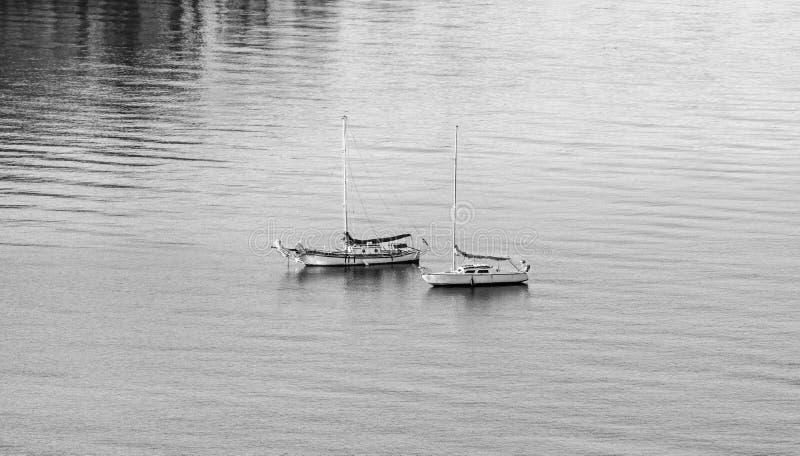 Parkera för segelbåtar arkivfoto