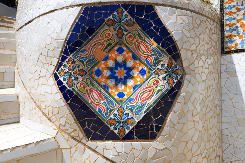 Parkera Guell - Barcelona Spanien royaltyfria bilder