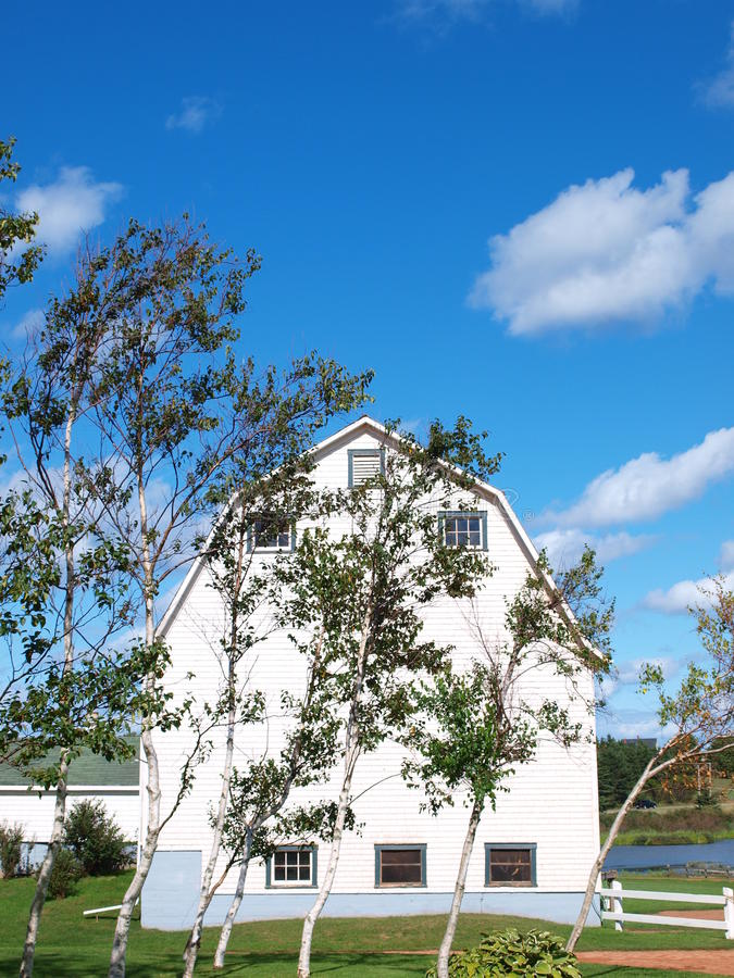 Parkera hörnet, prinsen Edward Island, Kanada arkivfoto