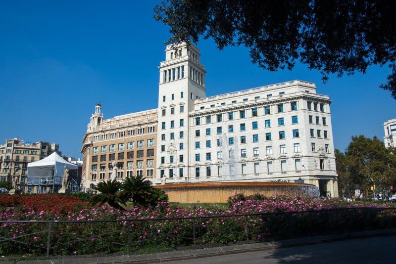 Parkera i Barcelona Spanien royaltyfria foton