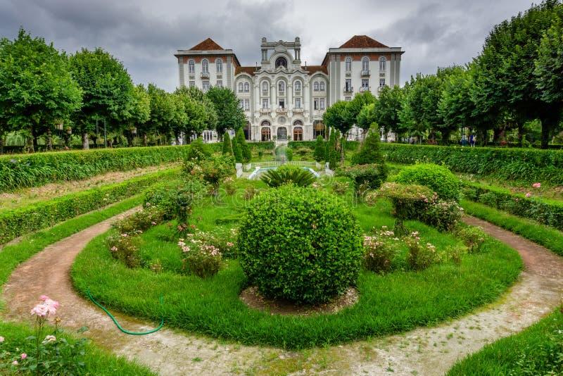 Parkera i Curia; Tamengos; Anadia; Portugal royaltyfria bilder