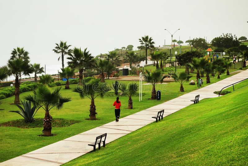 Parkera i Lima royaltyfria bilder