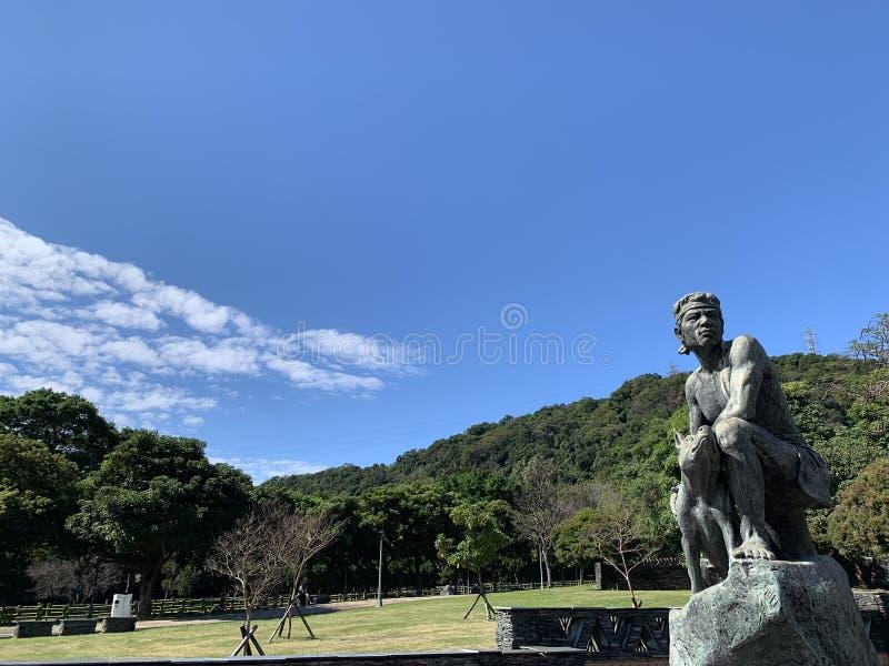 Parkera i Taipei med den fridsamma himlen fotografering för bildbyråer