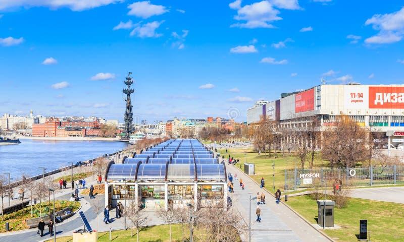 Parkera Museon Centralt hus av konstnären Tretyakov Gallery arkivfoto