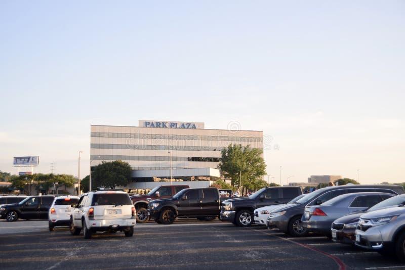 Parkera plazaen, Fort Worth, Texas royaltyfria bilder