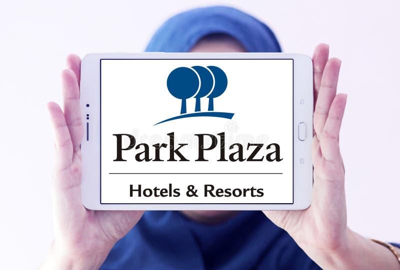 Parkera Plazahotell & tillgriper logo royaltyfri bild