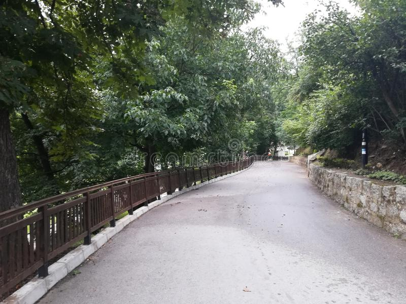 Parkera Rila, Dupnitsa, Bulgarien royaltyfria foton
