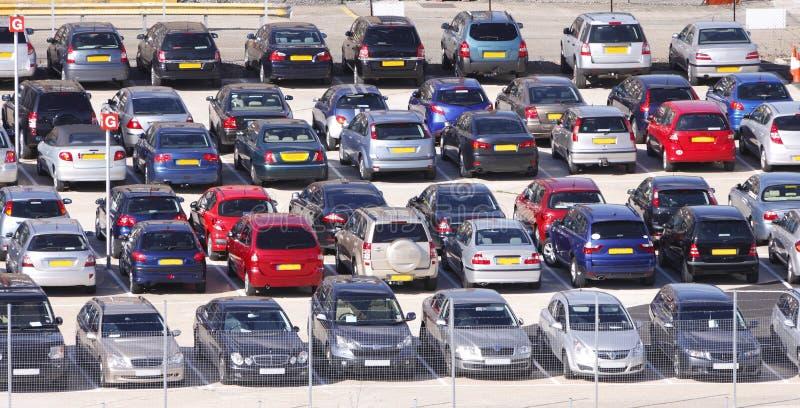 parkerade bilar royaltyfri foto