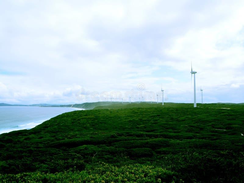 Parkerar den Eolian generatorn för den Albany vindlantgården, Australien arkivbilder