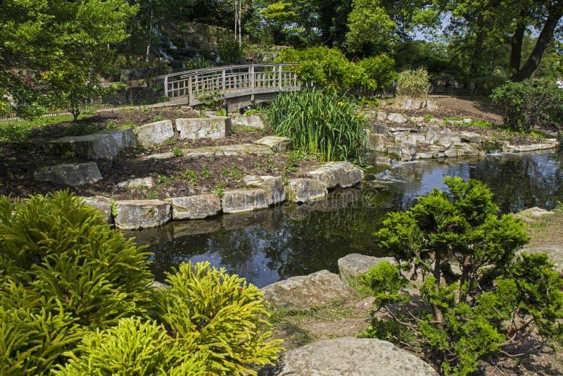 Parkerar den trädgårds- ön för japan i regenter, London arkivbilder