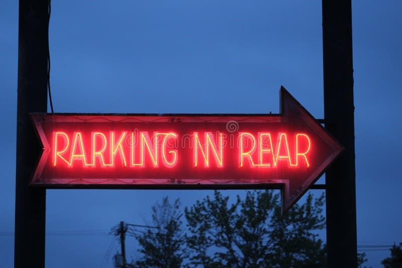 parkeren in achtergedeelte royalty-vrije stock foto's