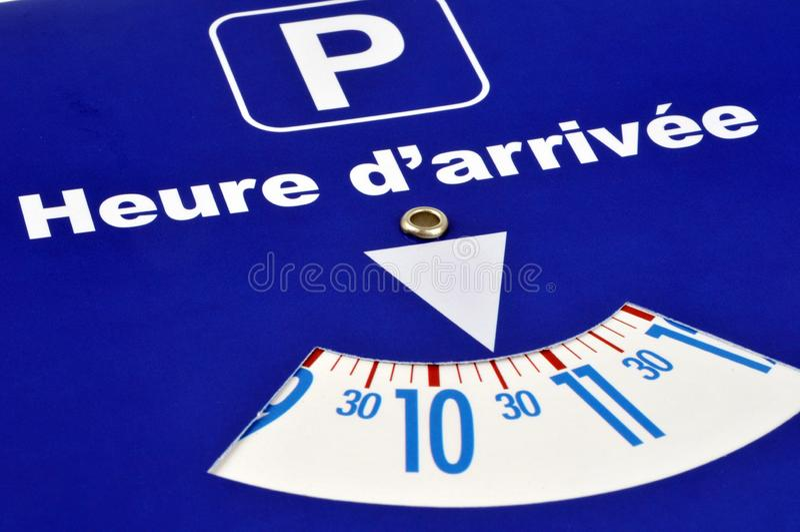 Parkeren in blauwe streek stock illustratie