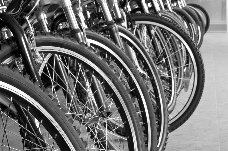 Parkeren voor fietsen royalty-vrije stock afbeelding