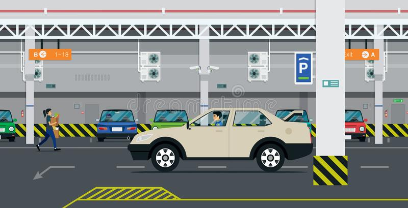 parkering stock illustrationer