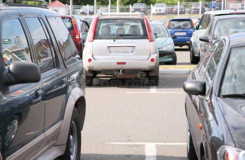 parkering royaltyfria bilder