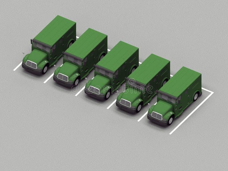 Parkering av lastbil royaltyfri illustrationer