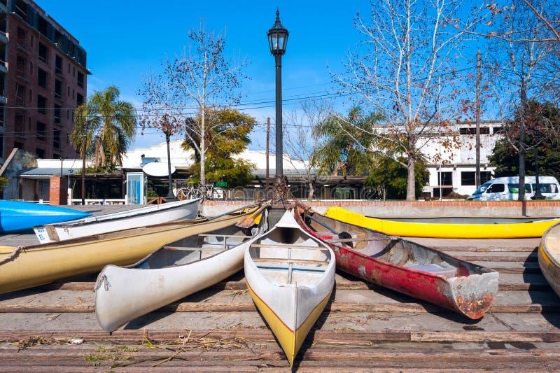 Parkering av personliga medel i El Tigre, Argentina arkivfoto