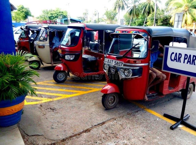 Parkering för Sri Lanka tuktuk royaltyfria foton