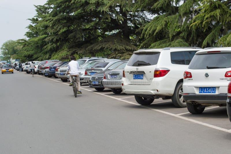 Parkering i gatan royaltyfri fotografi