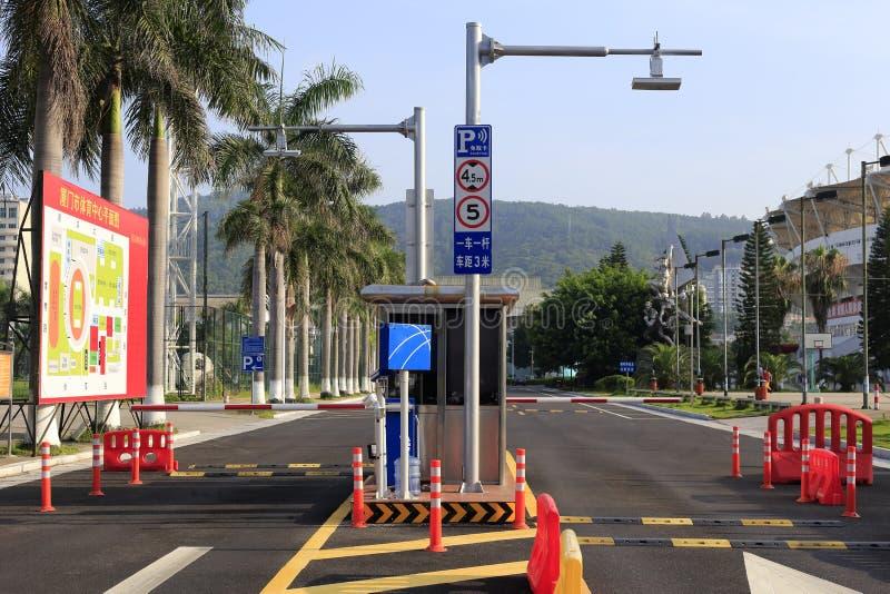 Parkeringsavgiftstation arkivfoto