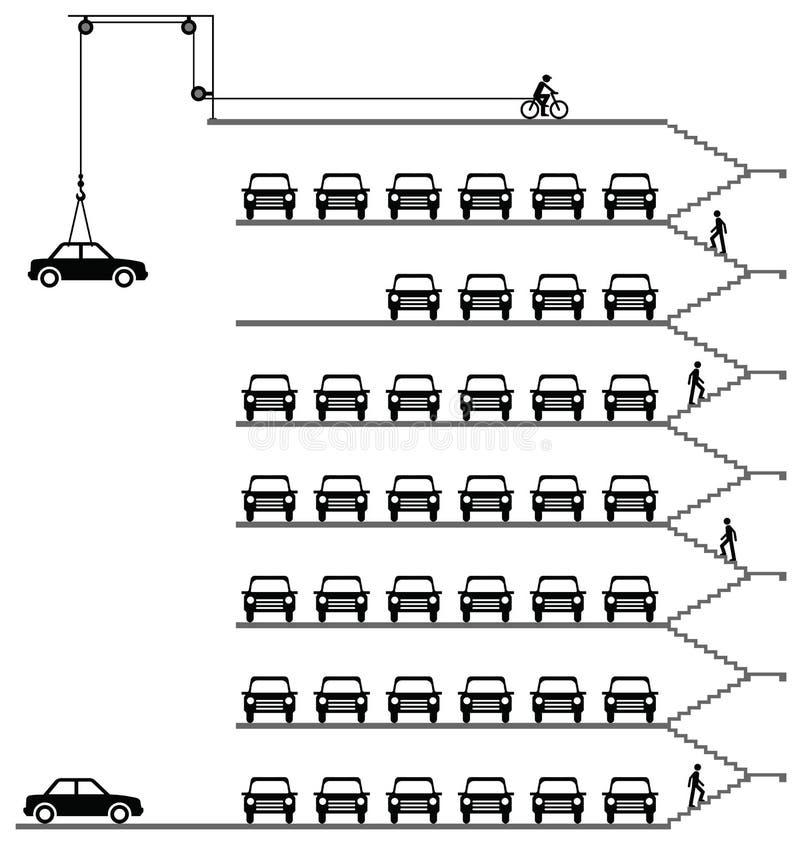 parkeringshus vektor illustrationer