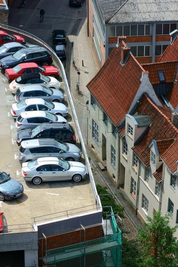 Parkeringsplats fotografering för bildbyråer