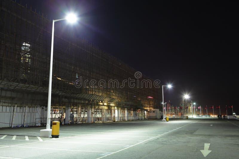 Parkeringsplats på utomhus- fotografering för bildbyråer