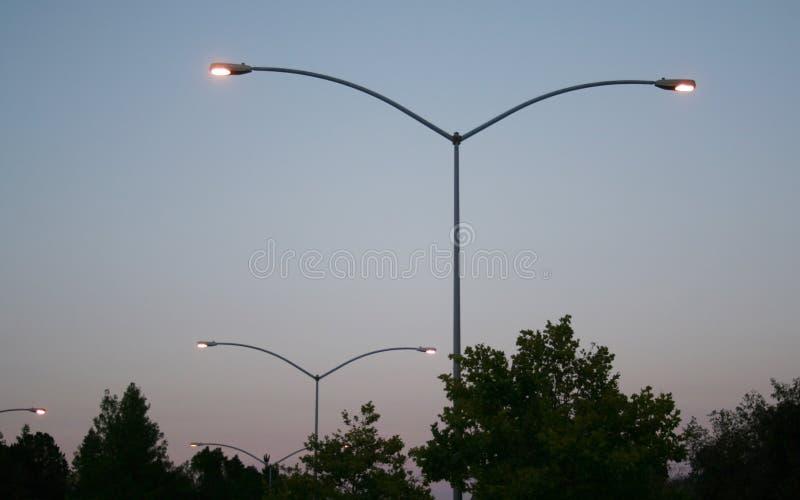 Parkeringsplatsljus royaltyfria bilder