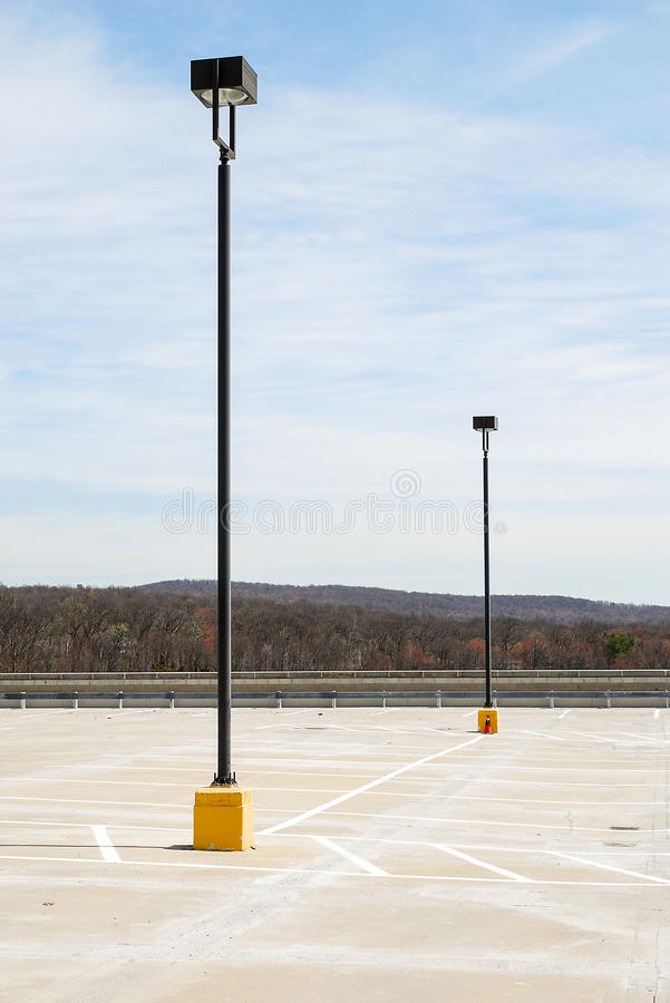 Parkeringsplatsljus royaltyfri fotografi