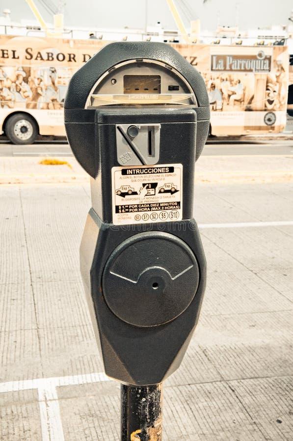 Parkeringsräkneverk royaltyfri fotografi