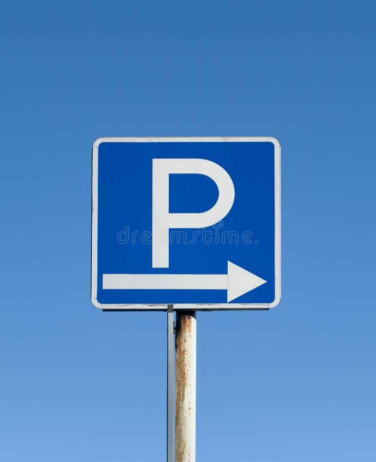 Parkeringstecken royaltyfria foton