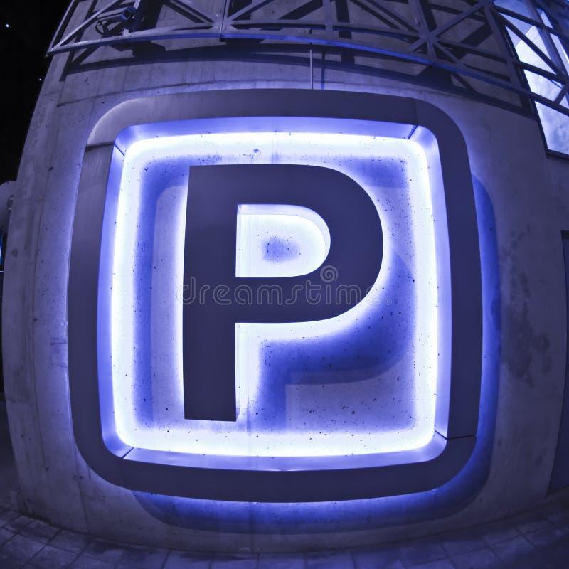 parkeringstecken fotografering för bildbyråer