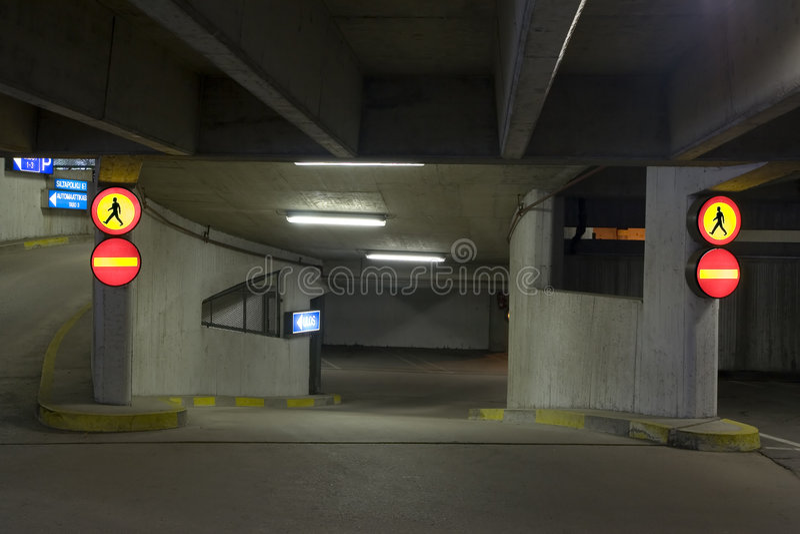 parkeringsundeground arkivbilder