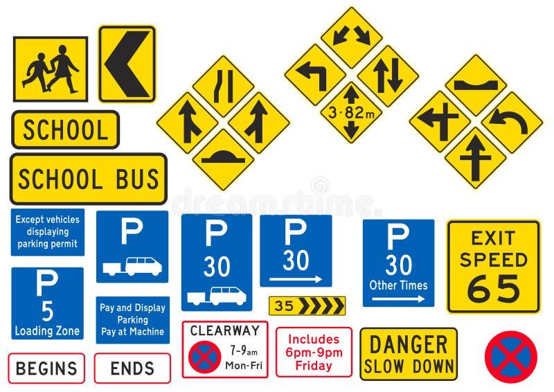 parkeringsvägmärke vektor illustrationer