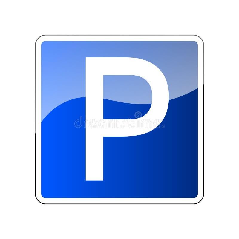 Parkeringsvägmärkemellanrum Ptecken för bil Transport parkerar zon Roadsign reglering Trans.parkering vektor illustrationer