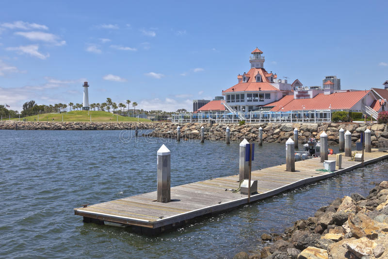 Parkers Lighthouse Long Beach California. Parkers Lighthouse and in Long Beach California royalty free stock photography