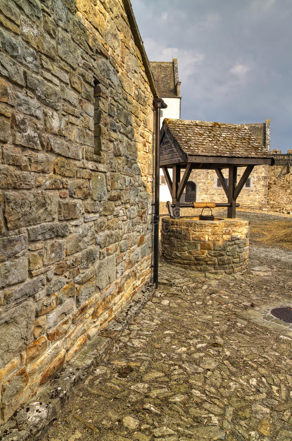 Download Parkes castle courtyard stock image. Image of green, leitrim - 19569439