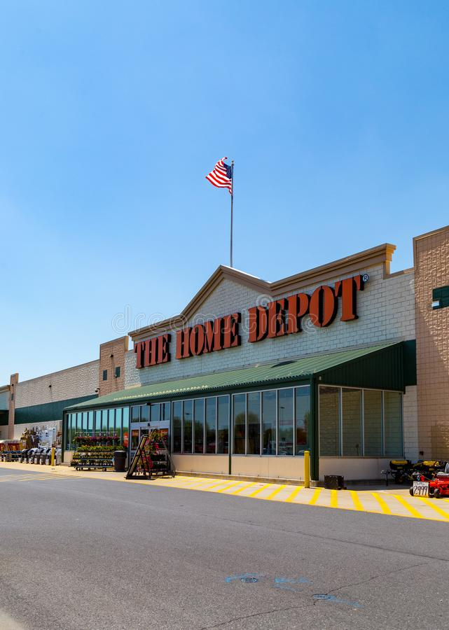 Home Depot. Parkesburg, PA, USA - May 3, 2018: Home Depot is an American home improvement supplies retailer with over 2000 locations that sells tools stock images