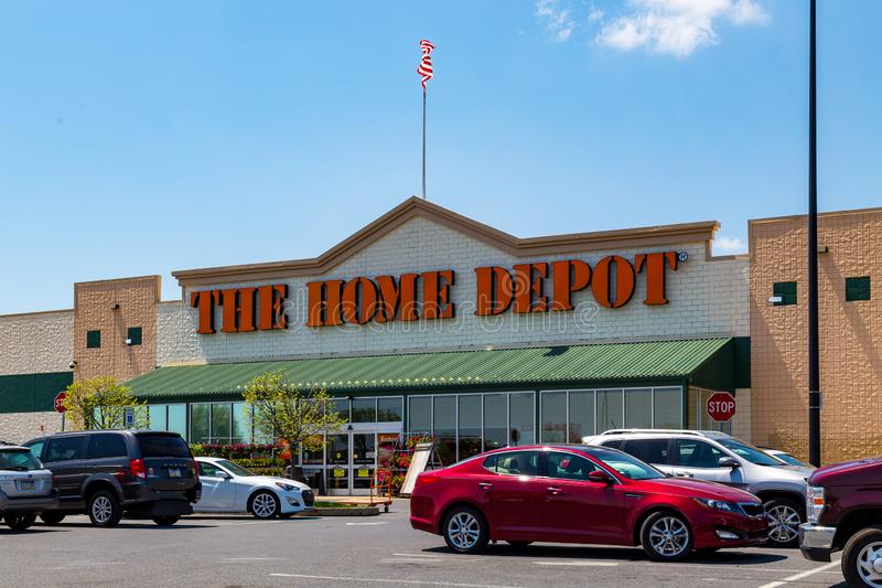 The Home Depot. Parkesburg, PA, USA - May 3, 2018: Home Depot is an American home improvement supplies retailer with over 2000 locations that sells tools stock photo