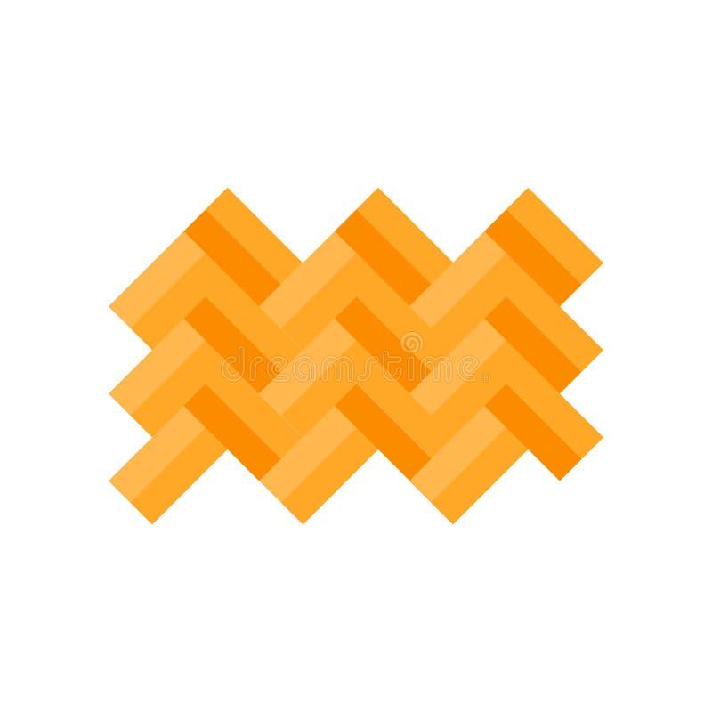 Parkettikonenvektorzeichen und -symbol lokalisiert auf weißem Hintergrund vektor abbildung