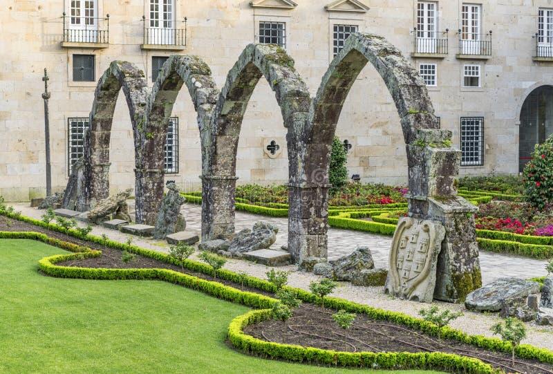 Parkfragment i Braga, Portugal royaltyfria bilder