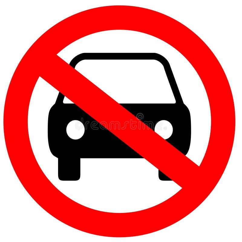 parking żadny znak ilustracja wektor