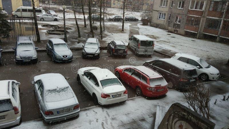Parking zdjęcie stock