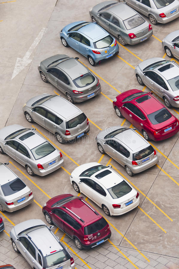 Download Parking editorial stock image. Image of blue, shadows - 22779704