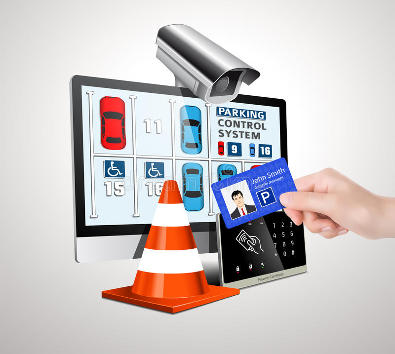 Parking access control syserm stock image