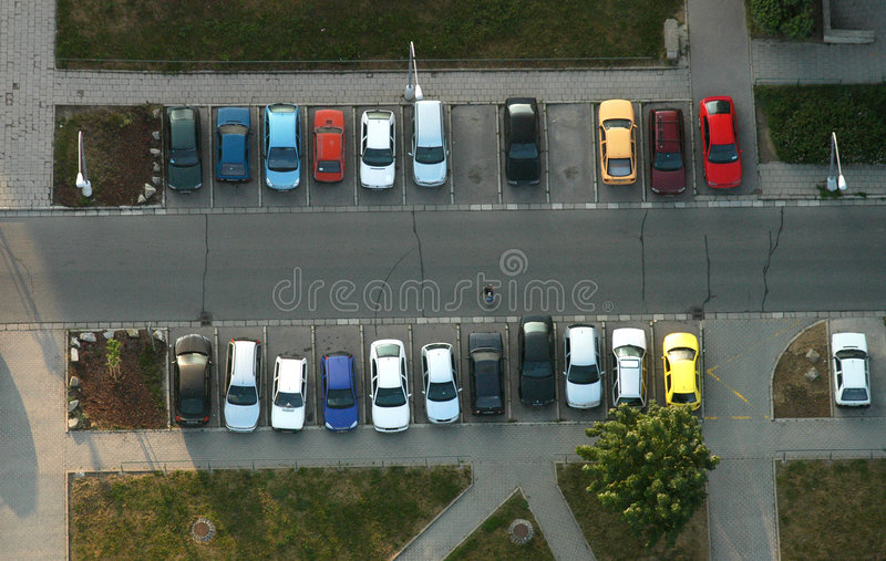 Parking from the air stock photo
