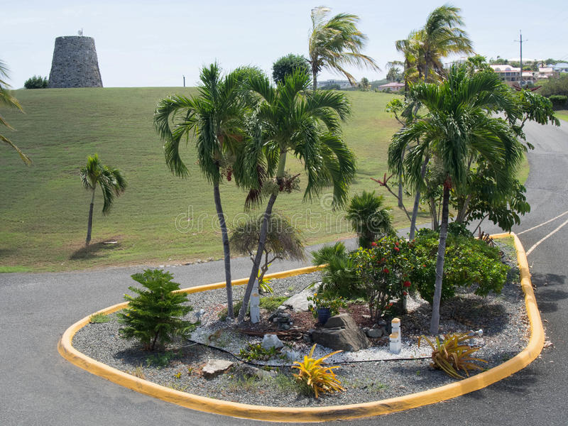 Parking aménageant en parc avec Sugar Mill photo libre de droits