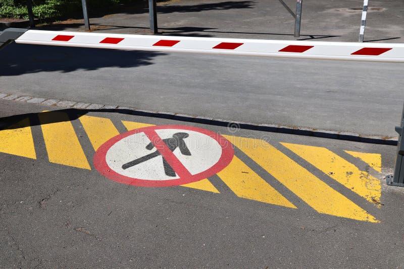 Parking barrier stock images